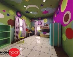 p o p fall ceiling in kids room false ceiling design for children