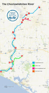 Highly Detailed River Map Of by Trip Planner Alabama Scenic River Trail