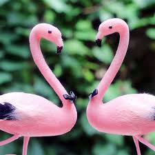 bird cake topper pink flamingo groom and groom cake topper