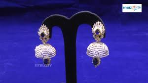 malabar earrings sapphire jewellery jhumkas jhumka earring designs malabar gold