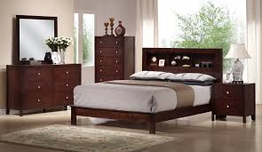baxton studio montana mahogany brown wood 5pc queen modern bedroom set