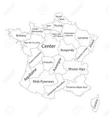 maps of the regions of france france outline map blank outline