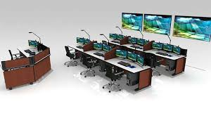 Control Room Desk Control Room Furniture Noc Console Furniture By Inracks
