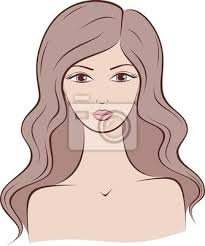 vector woman head silhouette with long hair royalty free cliparts