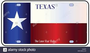 Texas State Flag Image Texas License Plate With Flag Of State In Red White And Blue With