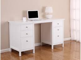 bureau bois massif blanc bureau albane 4 tiroirs 1 porte pin massif blanc