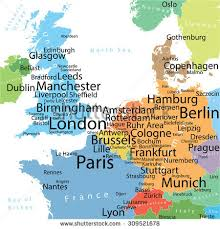 map western europe cities map western europe largest cities carefully stock vector 309521678