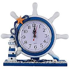 Nautical Desk Clock Amazon Com Nautical Clocks Sailboat Steering Wheel Helm