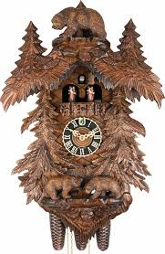 cuckoo clock 8 day movement carved style 58cm by hönes 867095tko