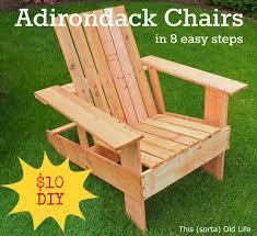 Adirondack Patio Chair Easy Economical Diy Adirondack Chairs 10 8 Steps 2 Hours