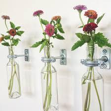 Copper Flower Vase 1 Wine Bottle Wall Flower Vase Copper Or Silver Hanging