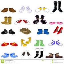 cartoon shoes set royalty free stock images image 20589899