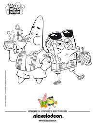 spongbob and patrick beach drinks coloring pages hellokids com
