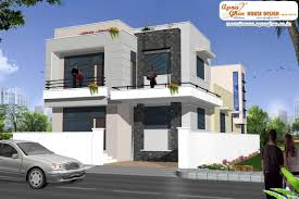 modern duplex 2 floor house design area 198m2 9m x 22m