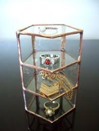 Curio Display Cabinets Uk Vintage Brass Glass Curio Cabinet Display Case Door Mirror Wall