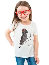 great grey owl t shirt for kids gogimogi