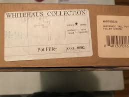 shop whitehaus collection decohaus brushed nickel 1 handle decohaus 10 75 in deck mount pot filler kitchen faucet ebay