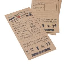 and groom card kraft advice cards for the and groom card by