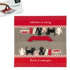 cadeau cuisine femme de transport à tarte tartes et compagnie en coton imprimé décor