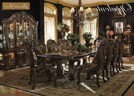 China Cabinet And Dining Room Set Oppulente Luxury 13 Piece Formal Dining Room Set W China Cabinet