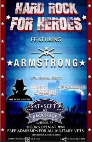 halloween city lubbock hard rock for heroes featuring armstrong at backstage lubbock
