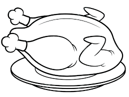 coloring page of a chicken black coloring pages coloring page chicken chicken leg black and
