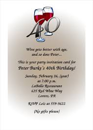 40th birthday invitation cards images invitation design ideas