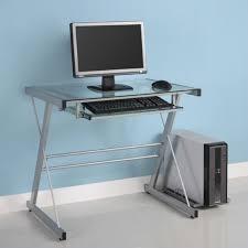 Glass Top Computer Desks For Home Small Glass Computer Desk Kreyol Essence
