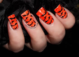 Halloween Nail Art Bats by 60 Most Beautiful Orange Nail Art Ideas