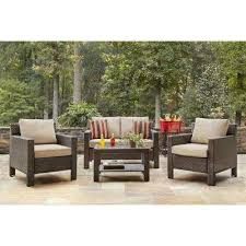 Outdoor Sofa Table by Hampton Bay Patio Furniture Outdoors The Home Depot