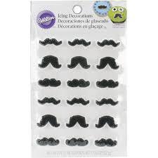 amazon com wilton 710 0229 mustache icing decorations 18 pack