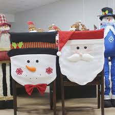 christmas chair back covers santa claus chair covers christmas decorations merry