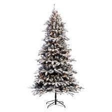 puleo international 7 5 ft bennington fir flocked clear pre lit