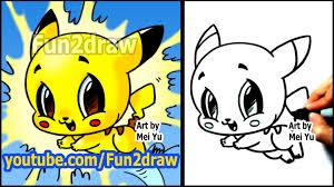 how to draw pikachu fun2draw style homeschool
