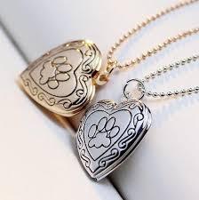 heart dog necklace images Lovely keepsake heart dog paw photo frame locket necklace jpg