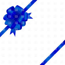 blue bows silk bow on white background vector image 17406 rfclipart