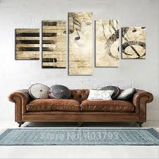 Music Note Decor Large Wall Picture Piano Keys Music Note Home Decor Wall Art