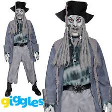 Halloween Costume Ghost Mens Zombie Pirate Costume Ghost Alley Scary Halloween Fancy
