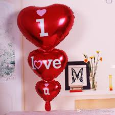 valentines day balloons wholesale 2018 96 50cm i you letter foil big balloons party decoration