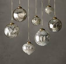 handblown mercury glass ornaments rh