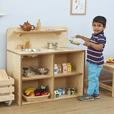 buy toddler wooden play kitchen unit tts