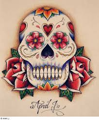 girly sugar skull on thigh photos pictures and
