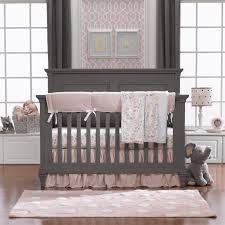 Liz And Roo Petal Pink Linen 4 Pc Crib Bedding Set