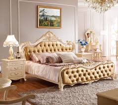 french adults bed continental solid wood furniture leather queen