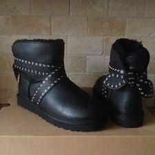 ugg s malindi boots black ugg australia leather pull on boots for us size 5 ebay