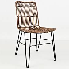 Wicker Rattan Dining Chairs Jofran 1604 425kd Urban Dweller Wire And Rattan Dining Chair