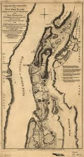 New York Islands Map by Stevenwarran Research 1777 A Topographical Map Of The Northn