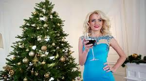 beautiful new years dresses new year s toast beautiful girl is wine