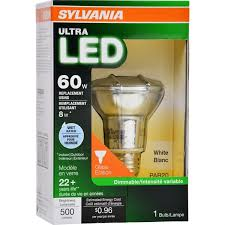 flood light bulbs sylvania sylvania 8 watt 50 w equivalent 3000 kelvins par20 medium base e