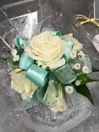 mint green corsage mint green prom garter n wrist corsage by florescencebydesign